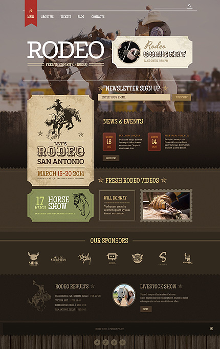 Template 49234 - Rodeo Show Responsive WordPress Theme