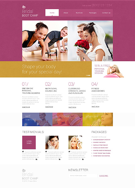 Template 49151 - Bridal Boot Camp Responsive Website Template