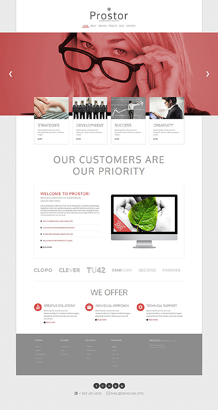 Template 49390 - Business Responsive Joomla Template