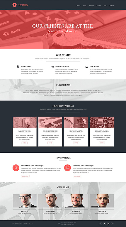 Template 50507 - Security Pro Drupal Template