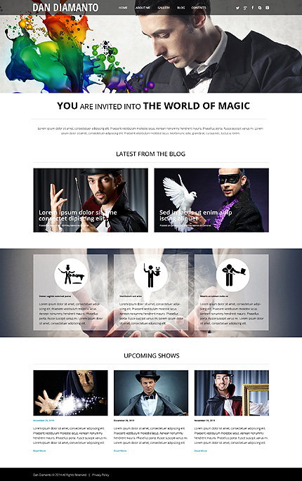 Template 50532 - Magician Responsive WordPress Theme