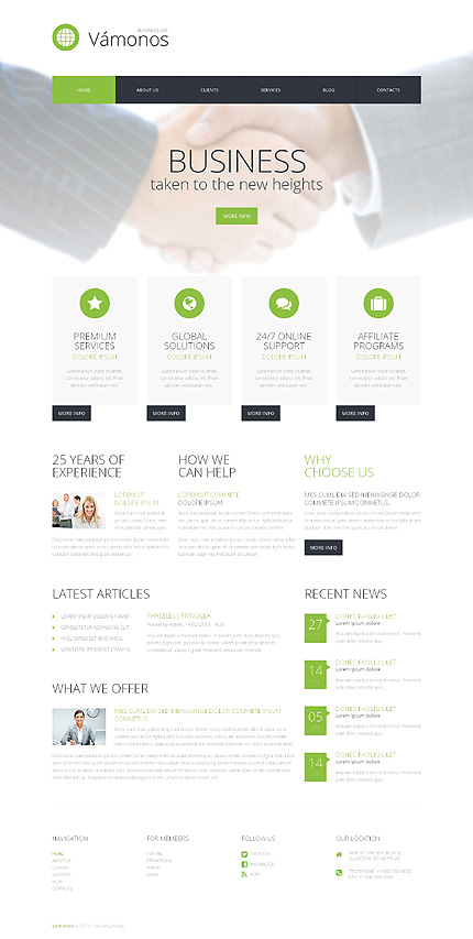Template 50603 - Business Responsive WordPress Theme