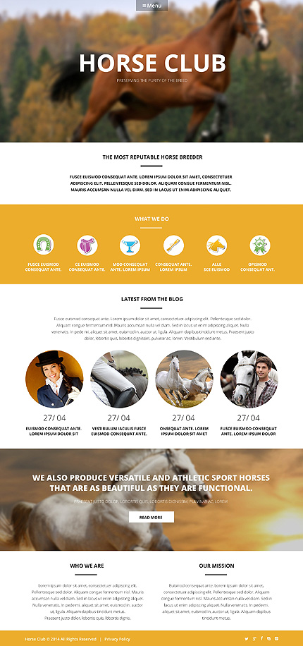 Template 50609 - Horse Breeder Responsive WordPress Theme