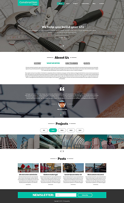 Template 50619 - Construction Bureau Responsive Joomla Template