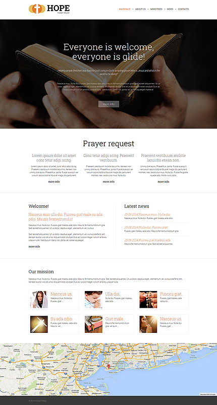 Template 50620 - Modern Church Responsive Joomla Template