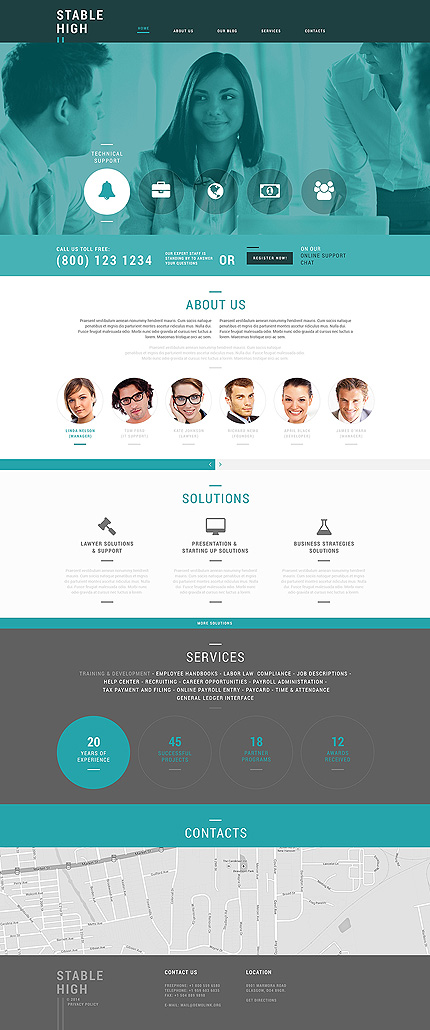 Template 50622 - Business Responsive Joomla Template