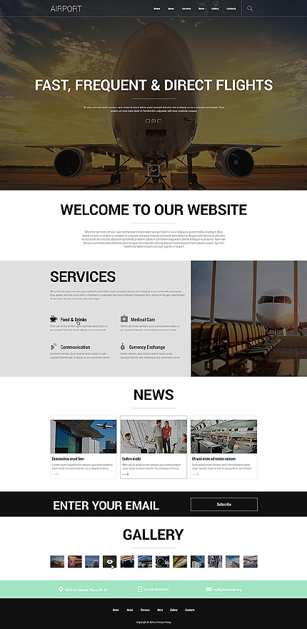 Template 50704 - Airport Airlines Responsive Joomla Template