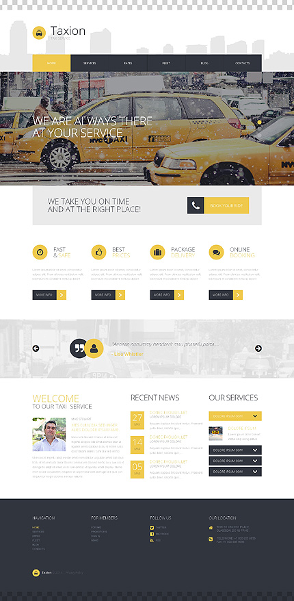 Template 50723 - Taxi Responsive WordPress Theme