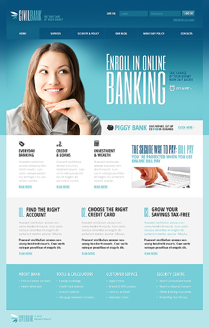 Civil Bank Responsive Joomla Template