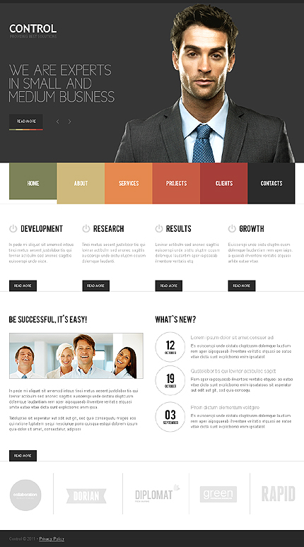 Template 35840 - Business Joomla Template with Slider and Gallery