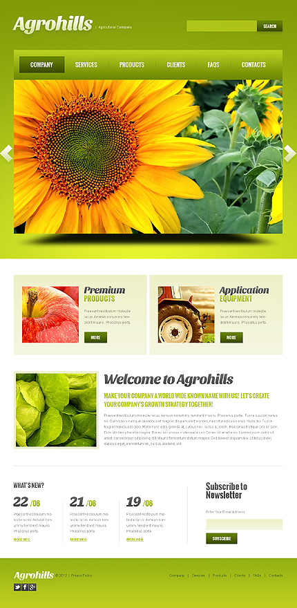 Template 41044 - Agriculture Responsive WordPress Theme