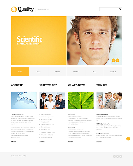 Template 43710 - Quality Business Responsive WordPress Theme