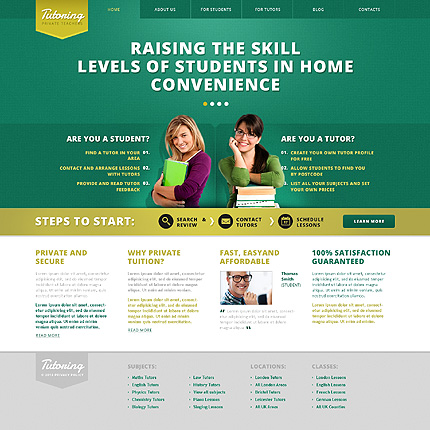 Template 45716 - Tutoring Private Responsive WordPress Theme
