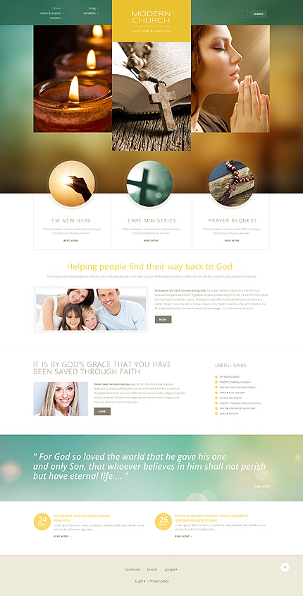Template 50457 - Modern Church Responsive WordPress Theme