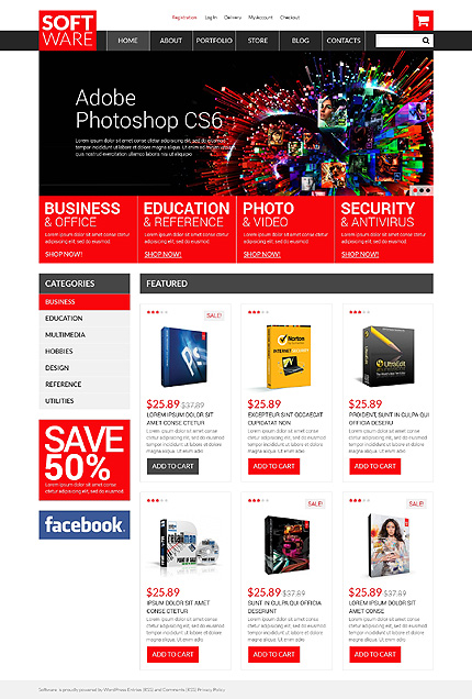 Template 50810 - Software Company Responsive WooCommerce Theme