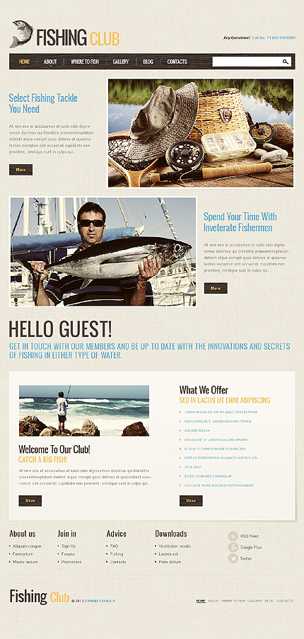 Template 41252 - Fishing Sport Responsive Joomla Template