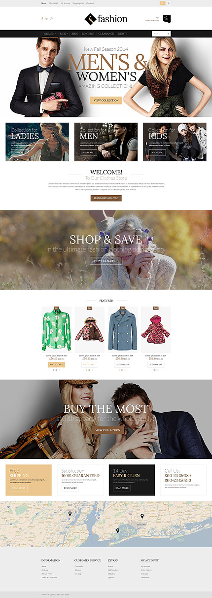 Template 51995 - Fashion Responsive OpenCart Template with Slider, Banners, Video, Product Slideshows with Zoom