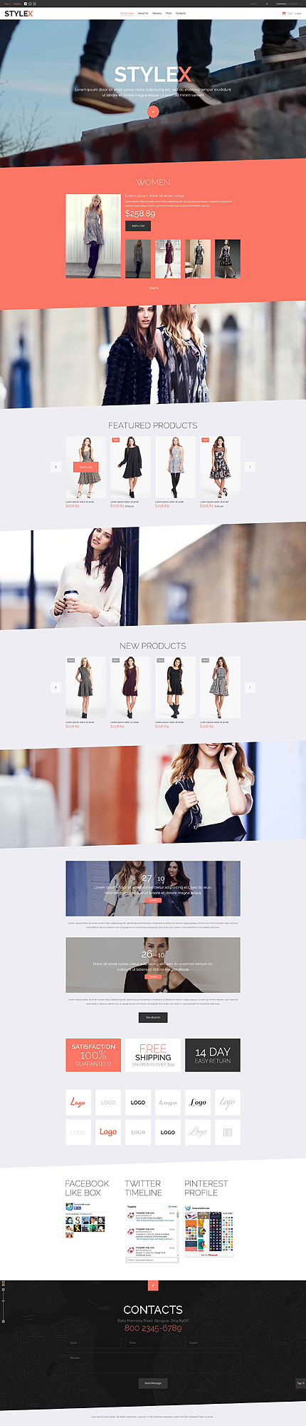 Template 52127 - Fashion VirtueMart Template with Video background & Parallax Effect, Flexsliders and Blog