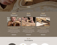 Template 48393 - Antique Store Responsive Website Template with Slider with Grid Animation