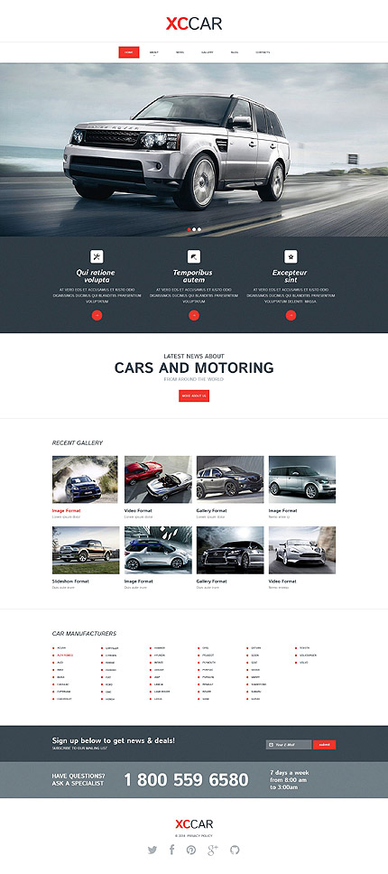 Template 52297 - Cars Responsive Drupal Template with Slider, Animated Zoom-Ins, Gallery and Blog