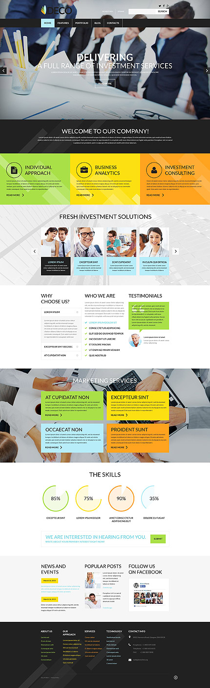 Template 52504 - Business Responsive WordPress Theme with Parallax Slider, Lazy Load, Porfolio and Blog