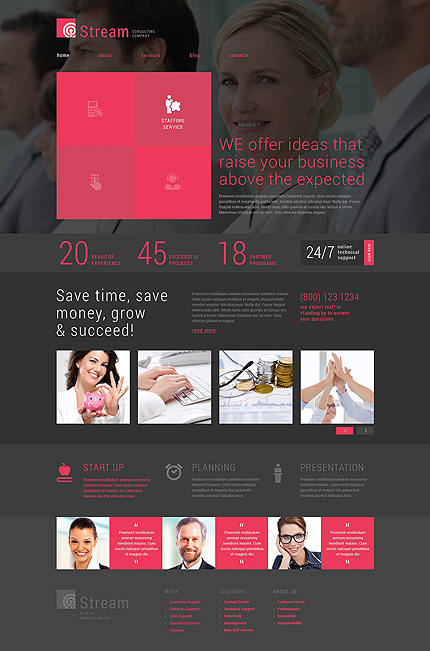 Template 49488 - Business Consulting Responsive Joomla Template