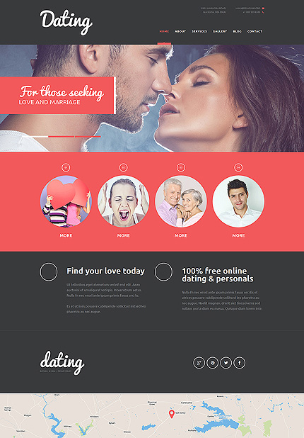 Template 50913 - Dating Blog Responsive Joomla Template with Slider, Gallery and Blog
