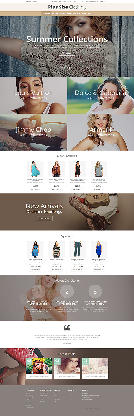 Template 52799 - Plus Size Responsive Magento Theme with Slider, Banners, Product Slideshows with Zoom, Video