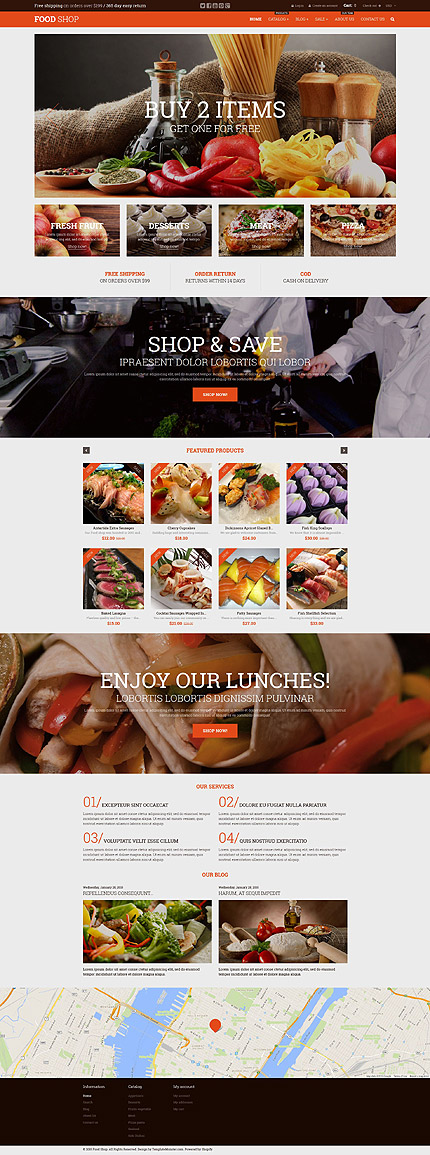 Template 52935 - Food Online Responsive Shopify Theme with Parallax, Slider, Catalog and Blog, Product Slideshows with Image Zoom