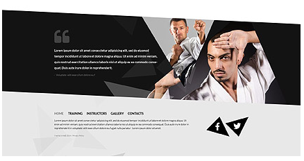 Footer for Template 52133 - Martial Arts Responsive Website Template