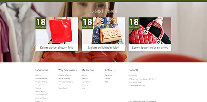 Footer for Template 52324 - Handbag Boutique Responsive Magento Theme