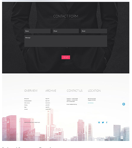 Footer for Template 52886 – Personal Assistant Services Responsive One-Page Website Template