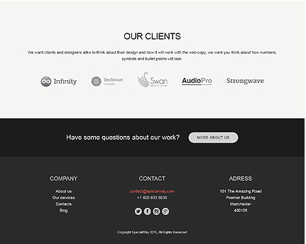 Footer for Template 53321 - Solution Business Responsive WordPress Theme