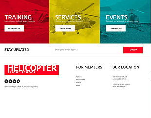 Footer for Template 53326 - Helicopter Flying Responsive Website Template