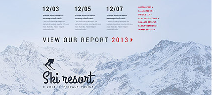 Footer for Template 53335 - Ski Resort Responsive Website Template