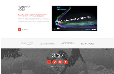 Template 53535 - Surfing Club Responsive Website Template