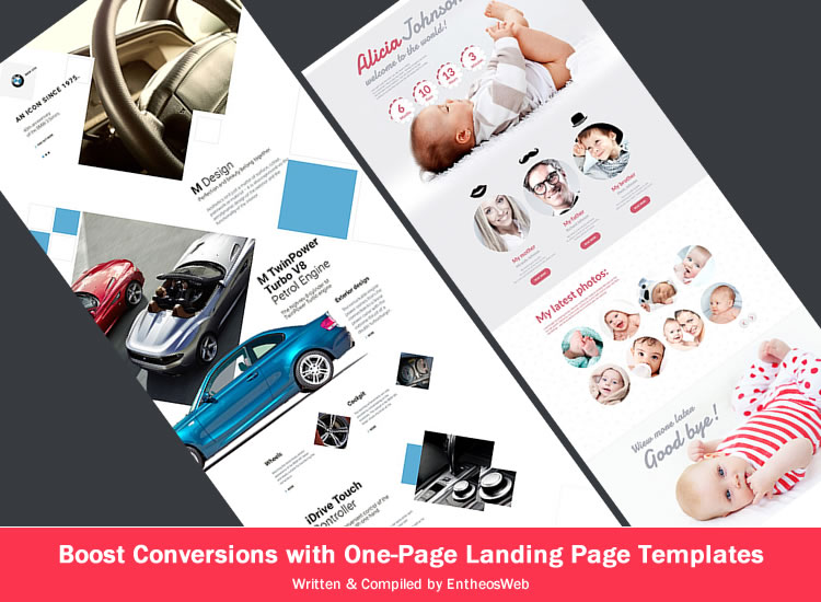 Boost Conversions with One-Page Landing Page Templates