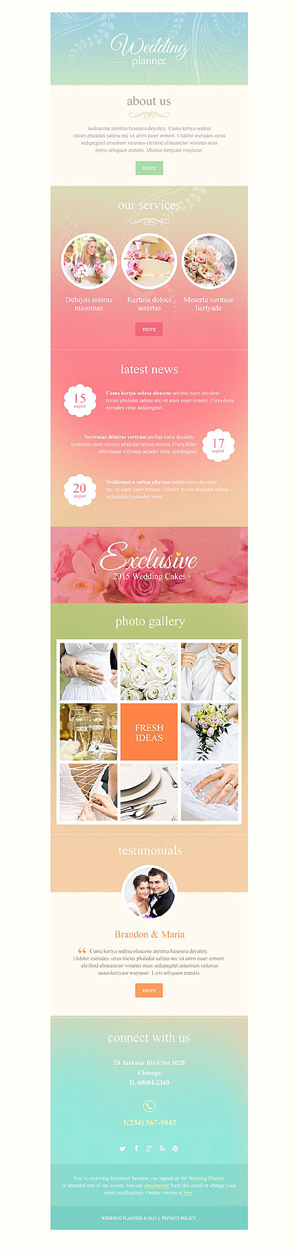 Responsive newsletter templates for effective email for Bridesmaid newsletter template
