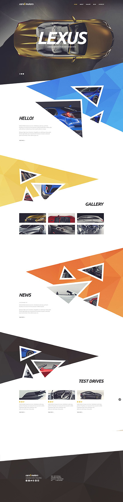 Template 53882 - Motor Cars Responsive WordPress Theme
