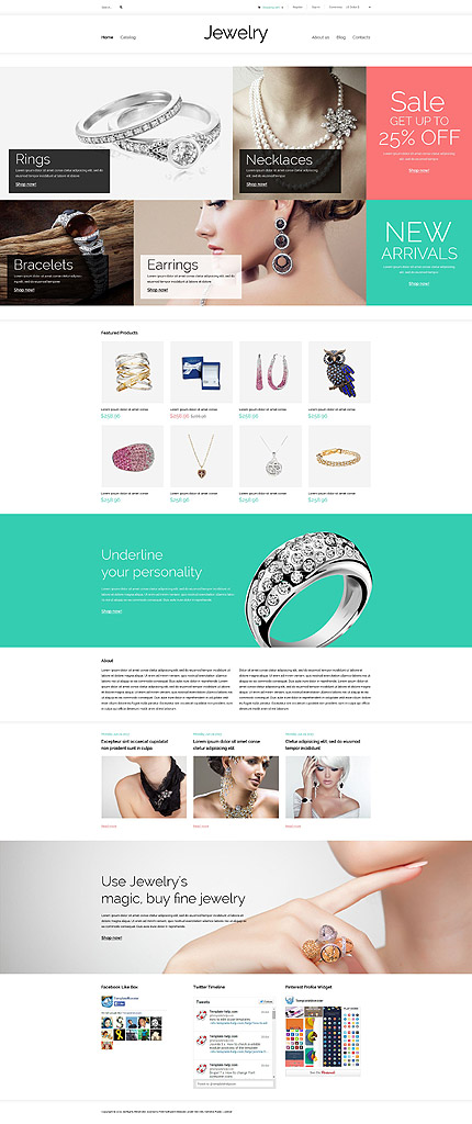 Template 53910 - Jewelry Store Responsive VirtueMart Template