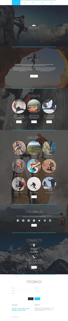 Template 54742 Rock Climbing Responsive Website Template with Parallax and Gallery