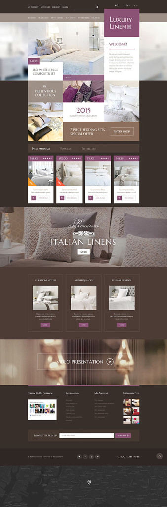 Template 54743 – Luxury Linen Responsive PrestaShop Theme