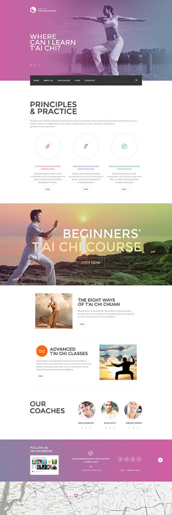 Template 54813 - Tai Chi Responsive Website Template with Parallax