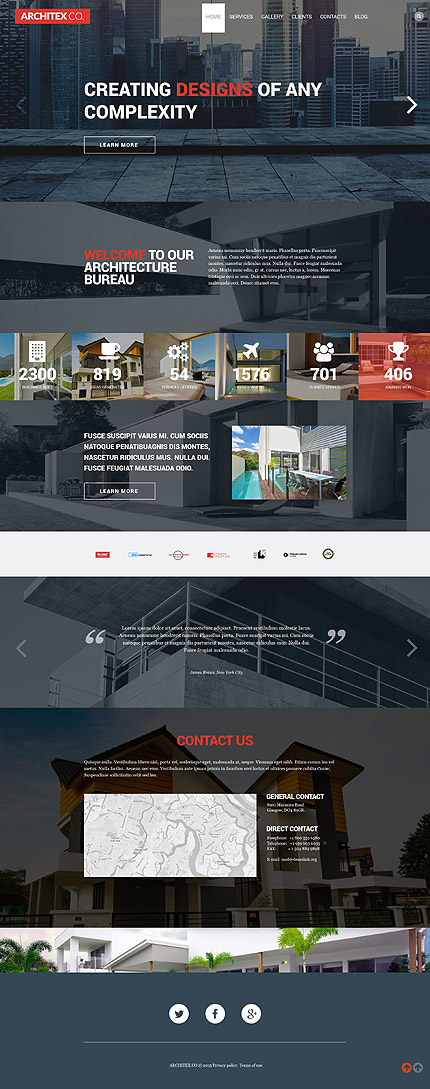 Template 53384 - Architecture Responsive WordPress Theme with Slider, Portfolio, Blog, Parallax, Carousel, Lazy Load Effect
