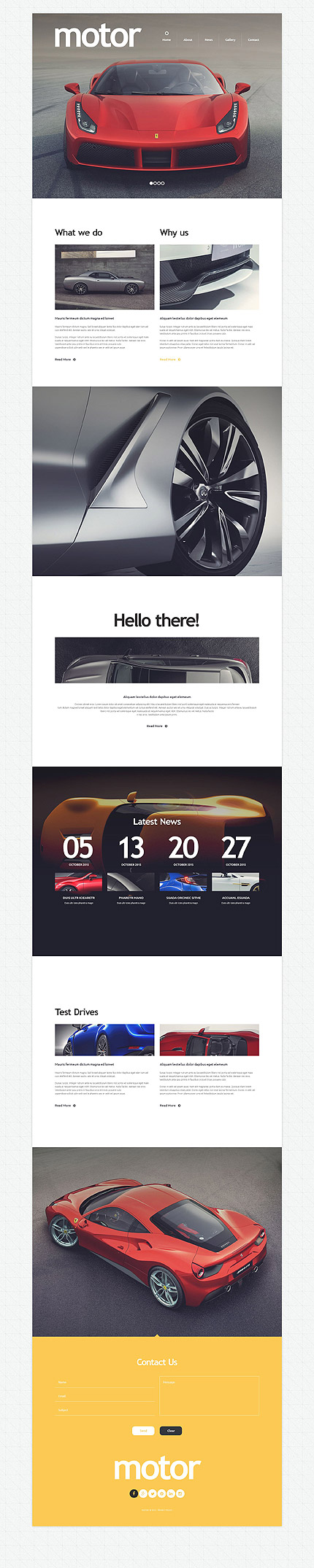 Template 53820 - Motor Cars Responsive Drupal Template with Slider, Gallery, Blog, Parallax, Lazy Load Effect