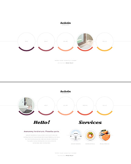Template 45858 - Hotel Website Template With Animated Circles Design