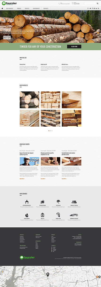Template 53748- Timber Selling Responsive Website Template