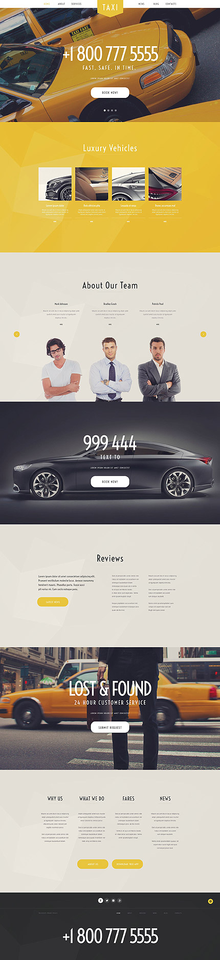 Template 54992 - Taxi Services Responsive WordPress Theme with Parallax, Slider, Blog and Portfolio