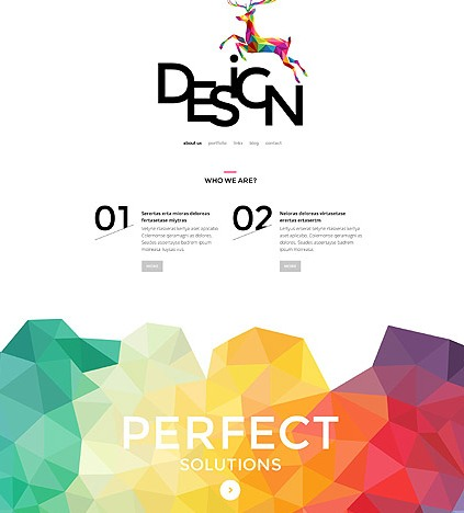 Template 55050 - Design Studio Responsive WordPress Theme with Polygons, Gallery and Blog -featured
