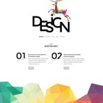 Template 55050 - Design Studio Responsive WordPress Theme with Polygons, Gallery and Blog - featured1